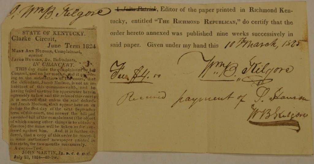Affidavit of Publication (color)