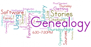Thursday Night Genealogy, Live!: Getting Organized - Paper & Digital Files @ Kentucky Historical Society | Frankfort | Kentucky | United States