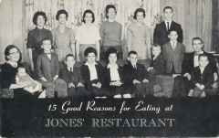 Did you eat at the Jones's?