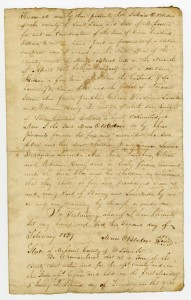 Deed of emancipation between Moses O. Bledsoe and [Taylor] Gibson, 7 March 1836
