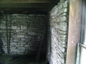 Elijah Harlan House, Slave Quarters upstairs (Photo by the author, April, 2012)