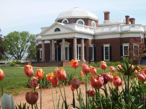 Visiting Thomas Jefferson's Monticello on the way home.