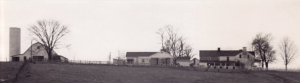 Elijah Harlan House, panorama, about 1955 (Photo courtesy of Guy and Anna (Russell) Ingram, Danville, Ky)
