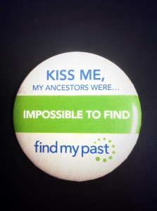 Picking up some treats from FindMyPast to give away at our Tea & Sympathy events.