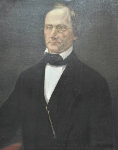 Bust portrait of Judge James Harlan (1800-1863). Painting is part of the KHS permanent collections.