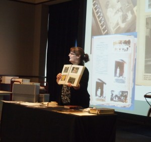 Jen Duplaga talking about Scrapbooks and their care.