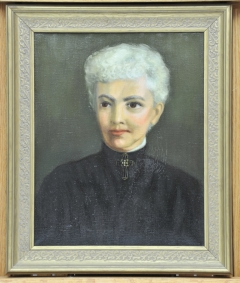 History Mystery: Painting of Woman in Black Dress (United Daughters of the Confederacy?)