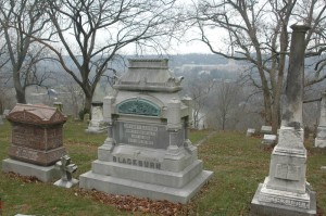 Blackburn family plot in Frankfort Cemetery, overlooking the Kentucky River and State Capitol. Photo courtesy of the author.