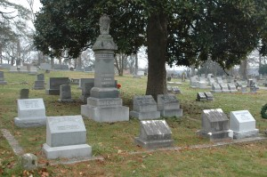 Joseph C.S. Blackburn Family Plot, Frankfort Cemetery: Under the Magnolia Tree sent by the Smithsonian. Photo courtesy of the author.