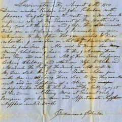 Collections Corner: The Watson-Robinson Letters