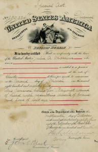 Invalid Pension granted to Julia A. Marcum, 1885. Click to enlarge.