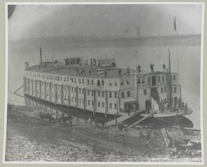Steamer US Nashville Hospital Ship at Vicksburg, circa 1863