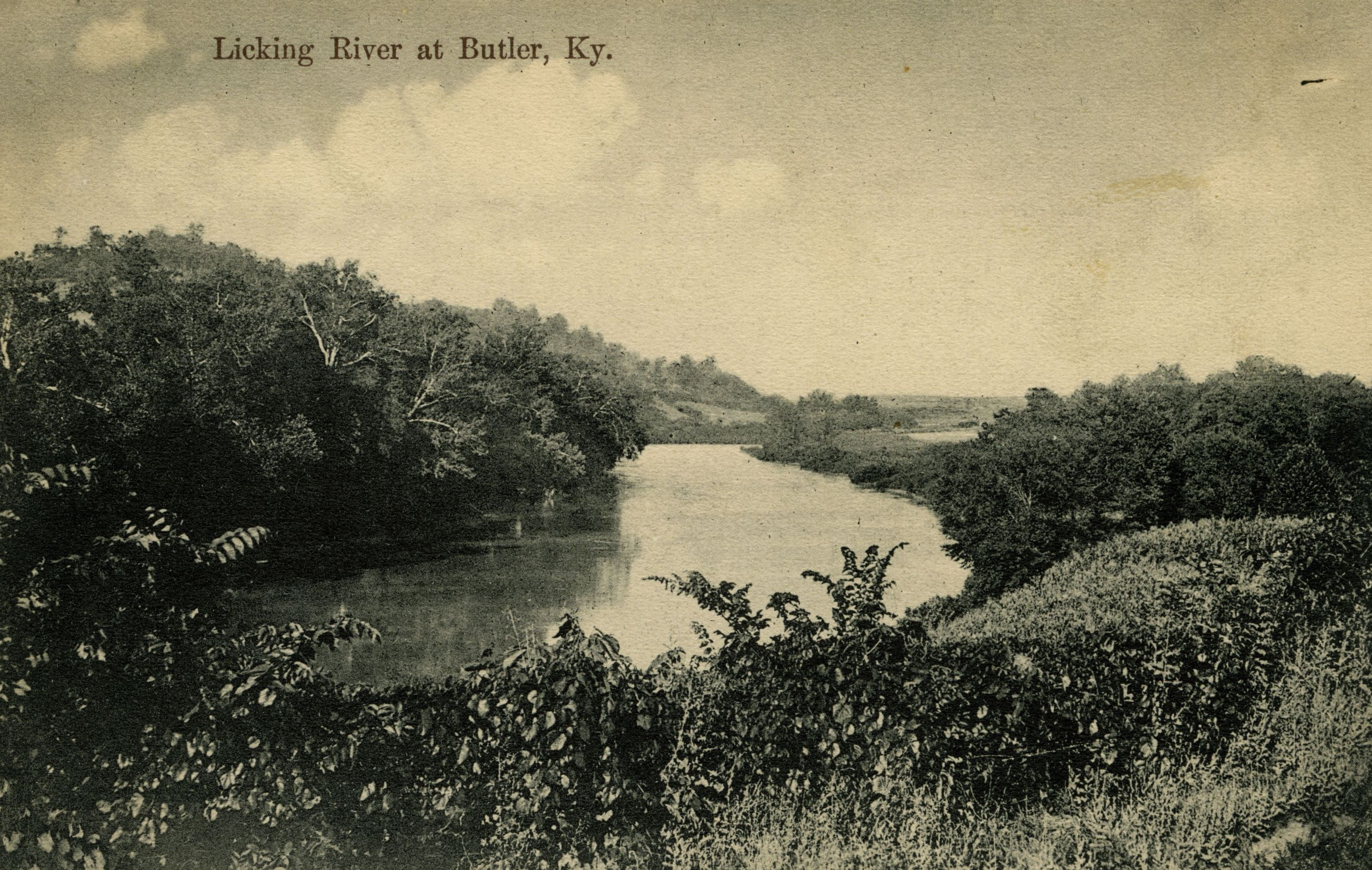 20th Century view of the Licking River near Butler in Pendleton County - part of the Ronald Morgan Postcard Collection - Graphic 5 - click to enlarge.