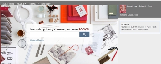 JSTOR home page