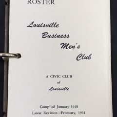 Collections Corner: Louisville Businessmen's Club Directories